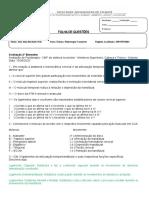 Prova CMF MMSS Cabeça e tronco 2 Bimestre João Alen