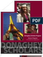 Donaghey Scholars Booklet 2010 Revised