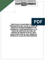 PROTOCOLO SANITARIO PARA LA PREVENCIÓN DEL COVID