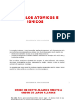 3. Arreglos atómicos e iónicos