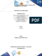 TAREA 1 - INFORME PLANEACIÓN DE LA PRODUCCIÓN