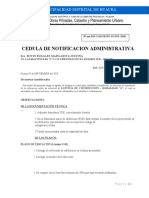 CEDULA DE  NOTIFICACION  ADMINISTRATIVA N°3-2019  EXP.7701-2019 Licencia de construcción ANAIS LORENA