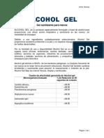 ALCOHOL  GEL Ficha T