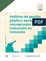 El estado del Estado - 08 Políticas de gestión pública - desarrollos conceptuales y traducción en Colombia. Agosto 2018