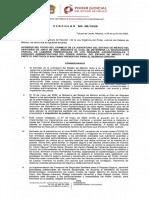 Comunicado Poder Judicial del Estado de México naranja