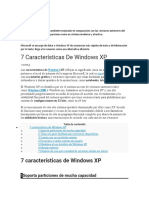 CARACTERISTICAS DE WINDOWS XP
