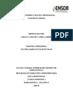 TALLER NÚMERO 1 DE ETICA PROFESIONAL