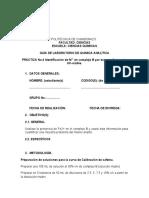 Práctica de DETERMINACIÓN DE HIERRO POR UV-Visible