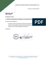 COTIZACION DE DESINFECCION MBA - Movilidades
