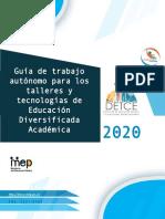 Guía de trabajo autónomo para talleres y tecnologías de Educación Diversificada Académica.docx