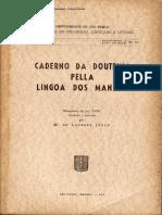Caderno da Doutrina pella lingoa dos Manaos. Manuscrito do séc. XVIII estudado e anotado.pdf