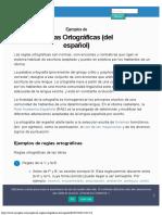 Ejemplos de Reglas Ortográficas (del Español)
