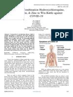 Triple Drug Combination Hydroxychloroquine, Azithromycin, & Zinc to Win Battle Against COVID-19