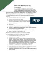 Requisitos Para El Divorcio en Perú