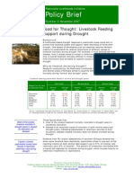 Food for Thought--Livestock Feeding Support During Drought