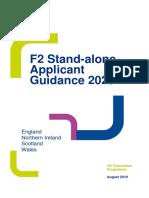 2020 F2 Stand-alone Applicant Guidance_UPDATE Dec.2019