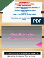 SEMANA 6 LA GESTIÓN DE OPERACIONES