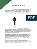 Pasos para implantar la ISO 9004