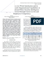 The Influence Over Work Satisfaction and Its Implication Towards Organizational Capabilities at Indonesian National Police Security Intelligence Agency Was Viewed Through Career Levels And