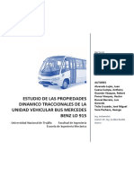 Estudio de las propiedades dinámico Traccionales de la Unidad Bus Mercedes Benz LO 6915