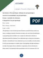 Apostila Introdução à Psicopatologia - PDF