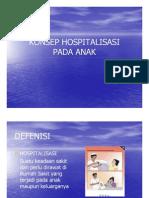 Ka 1 Slide Konsep Hospitalisasi Pada Anak