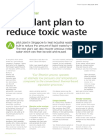 Pilot plant plan to reduce toxic waste