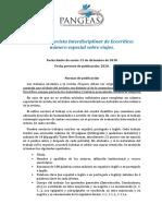 Normas publicación Pangeas número sobre VIAJES