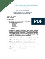 CUESTIONARIO PLANIFICACION DE SISTEMAS