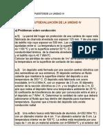 PROBLEMAS PROPUESTOS DE TRANSFERENCIA DE CALOR