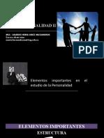 CAP 1.5 -  ELEMENTOS IMPORTANTES EN EL ESTUDIO DE LA PERSONALIDAD