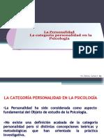 Clase 2 - Categoría personalidad en psicología