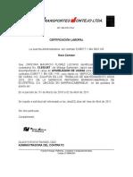 certificación Montejo