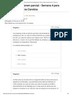 Historial de exámenes para Arteaga Parra Tania Carolina_ Examen parcial - Semana 4
