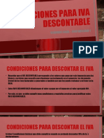 Condiciones para iva descontable