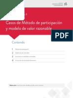 s8 casos de metodo de participacion y modelo de valo razonable
