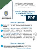 1.- PLANIFICACIÓN DE LA GESTIÓN ESCOLAR EN EDUCACIÓN A DISTANCIA