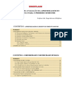 AVALIAÇÃO SEMESTRAL Ed Física Interdisciplinar