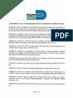 Miami-Dade Emergency Order Amendment 2