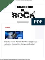 THE BEATLES - Across The Universe [la mejor traducción al español y el origen de la letra] - El Traductor de Rock
