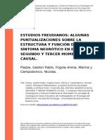 Piazze, Gaston Pablo, Fogola Arena, M (..) (2010). ESTUDIOS FREUDIANOS ALGUNAS PUNTUALIZACIONES SOBRE LA ESTRUCTURA Y FUNCION DEL SINTOMA (..)