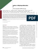 Laboratory Investigation of Myeloproliferative Neoplasms