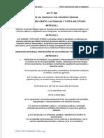 CODIGO DE FAMILIA  LEY N°603