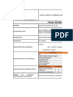 Ficha técnica Agua de Mesa Ozonizada