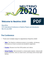 Neutrino 2020 Conference Introduction