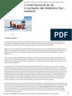 La cooperación internacional en la Antártida en el contexto del Atlántico Sur – Por Máximo Gowland - NODAL