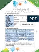 Guia de actividades y rubrica de evaluación - Tarea 3 - Proponer solución del problema de Contaminación del suelo (Escenario 1)