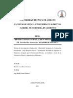 Produccion de acido lactico mediante el uso de Lactobacillus rhamnosus a partir de melaza