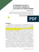 Ricardo Silva Da história do pensamento político à teoria política - variações da hermenêutica do conflito de Quentin Skinner.