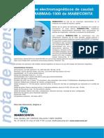 Medidores Electromagneticos de Caudal Mabmag1500 MABECONTA